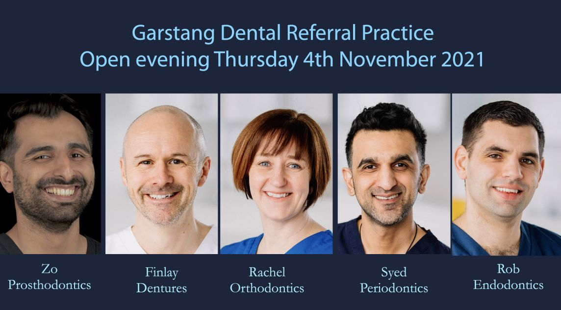 Thursday 4th November 2021 from 5.45pm at Garstang Country Hotel and Golf Club. Clinical Updates – in fixed prosthodontics, dentures, orthodontics endodontics and periodontics