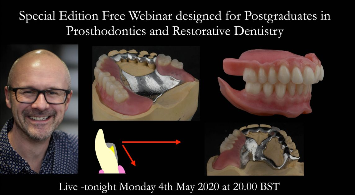 Special Edition Free Webinar designed for Postgraduates in Prosthodontics and Restorative Dentistry