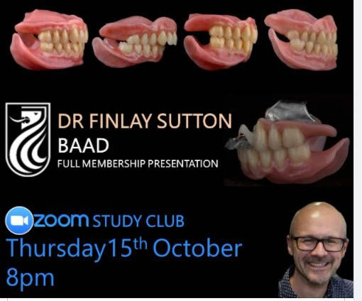 Finlay's full membership presentation to the British Academy of Aesthetic Dentistry Thursday 15th October 2020