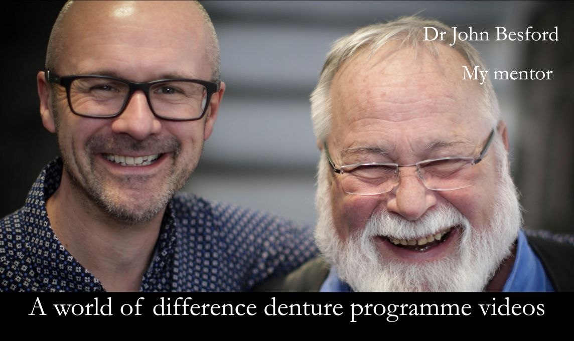 My mentor - Dr John Besford's brilliant videos describing his approach to making personalised dentures.