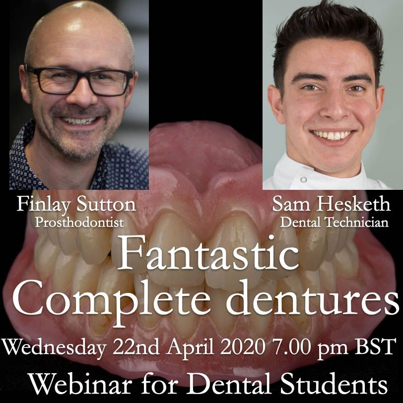 Fin and Sam's Free Webinar on Complete Dentures for dental students